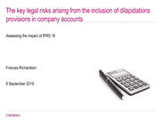Linklaters - The key risks arising from the inclusion of dilapidations provisions in company accounts .pdf