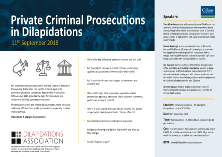 Private Criminal Prosecutions in Dilapidations